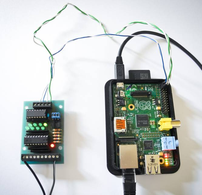 I2C-Eingabekarte am Raspberry PI