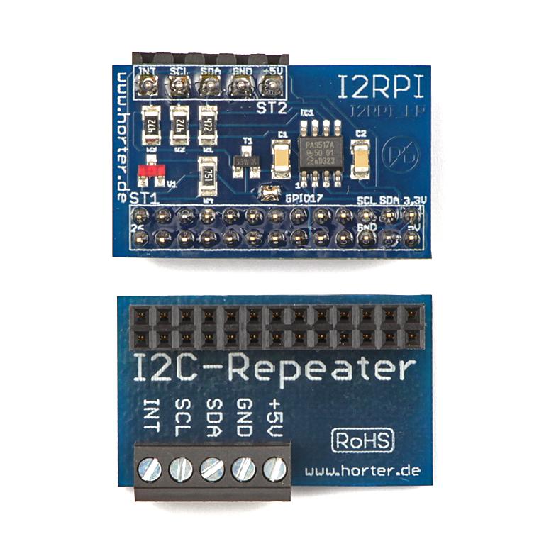 I2C-Repeater Vorder- und Rückseite