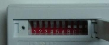 DIP-Schalter 1-5 bei Pollin Funksteckdose