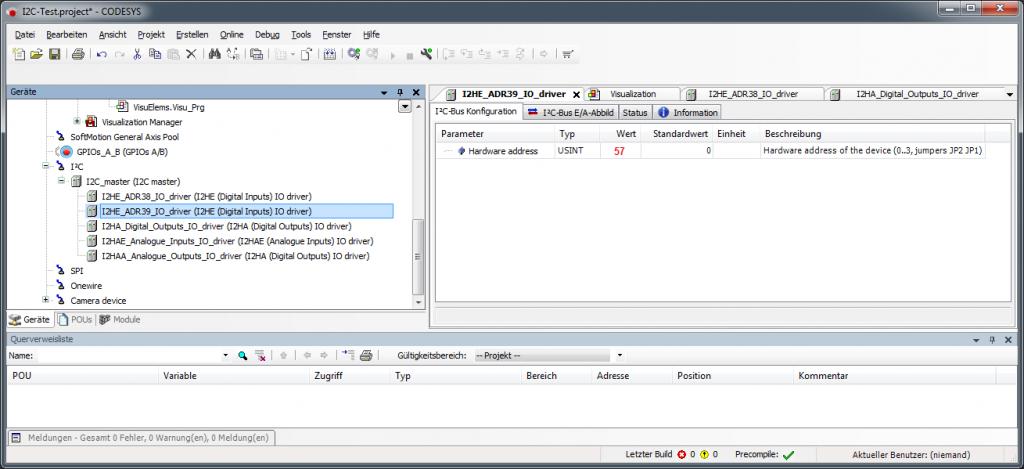 Weitere I2C-Baugruppen in CODESYS einbinden