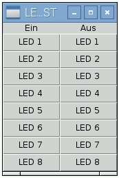 I2C-Output Modul mit Tasten steuern