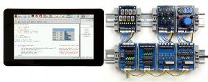 Testumgebung mit Raspberry-Pi, Touchscreen und I2C-Baugruppen