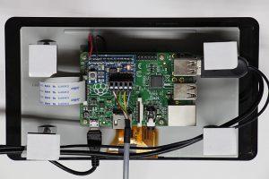 Touchdisplay mit Raspberry-PI und aufgestecktem I2C-Repeater