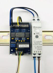 I2C-Analog-Ausgangskarte mit FINDER Dimmer
