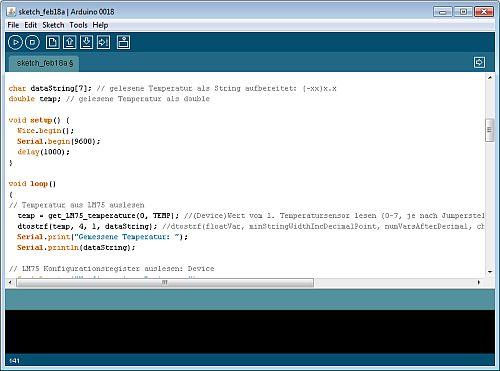 i2c beispiel lm75 und pcf8591 mit arduino - Arduino Beispiele